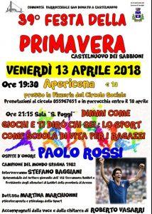 Locandina festa della primavera Paolo Rossi